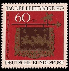 60 + 30 Pf Briefmarke: Tag der Briefmarke 1979