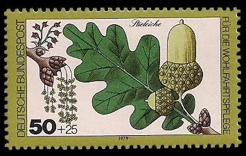 50 + 25 Pf Briefmarke: Für die Wohlfahrtspflege 1979