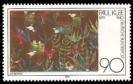 90 Pf Briefmarke: 100. Geburtstag Paul Klee