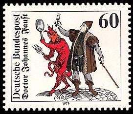60 Pf Briefmarke: Doktor Johann Faust