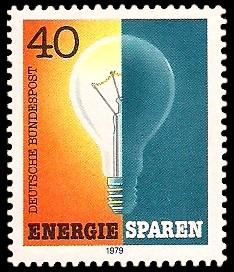 40 Pf Briefmarke: Energie sparen