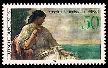 50 Pf Briefmarke: 100. Todestag Anselm Feuerbach