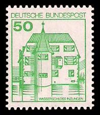 50 Pf Briefmarke: Burgen und Schlösser