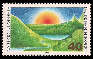 40 Pf Briefmarke: Naturschutzgebiete