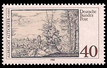40 Pf Briefmarke: 500. Geburtstag Albrecht Altdorfer
