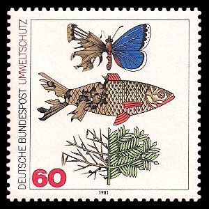 60 Pf Briefmarke: Umweltschutz