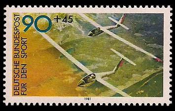 90 + 45 Pf Briefmarke: Für den Sport