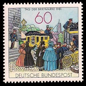 60 Pf Briefmarke: Tag der Briefmarke 1981