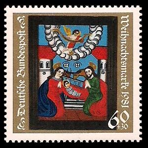 60 + 30 Pf Briefmarke: Weihnachtsmarke 1981