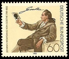 60 Pf Briefmarke: 150. Todestag Johann Wolfgang von Goethe