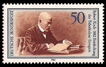 50 Pf Briefmarke: 100 Jahre Entdeckung des Tuberkulose-Erregers