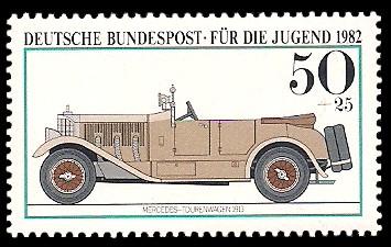 50 + 25 Pf Briefmarke: Für die Jugend, Kraftfahrzeuge