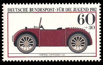 60 + 30 Pf Briefmarke: Für die Jugend, Kraftfahrzeuge