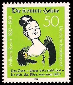 50 Pf Briefmarke: 150. Geburtstag Wilhelm Busch
