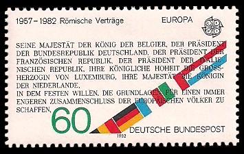 60 Pf Briefmarke: Europamarke 1982, 25 Jahre Römische Verträge