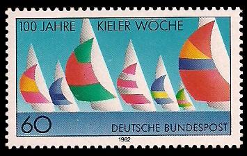60 Pf Briefmarke: 100 Jahre Kieler Woche