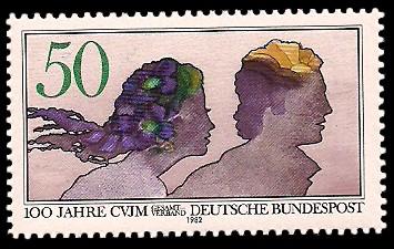 50 Pf Briefmarke: 100 Jahre CVJM - Christlicher Verein Junger Menschen