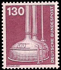 130 Pf Briefmarke: Industrie und Technik
