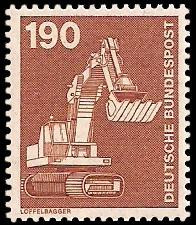 190 Pf Briefmarke: Industrie und Technik