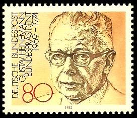 80 Pf Briefmarke: Bundespräsidenten der Bundesrepublik Deutschland