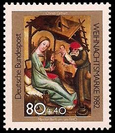 80 + 40 Pf Briefmarke: Weihnachtsmarke 1982