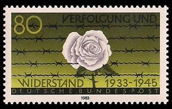 80 Pf Briefmarke: Verfolgung und Widerstand