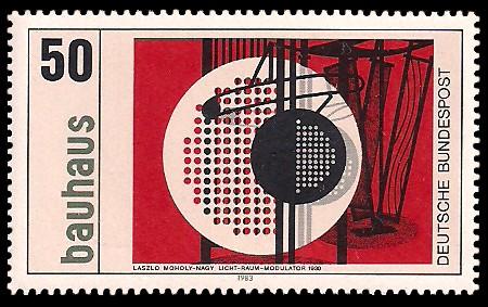 50 Pf Briefmarke: Bauhaus