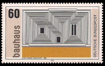 60 Pf Briefmarke: Bauhaus