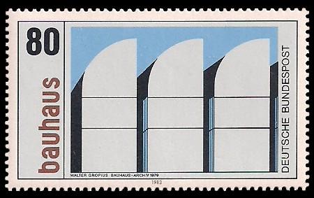 80 Pf Briefmarke: Bauhaus