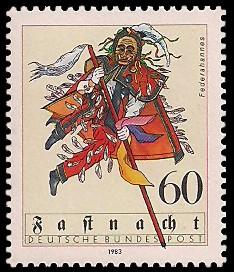 60 Pf Briefmarke: Fastnacht
