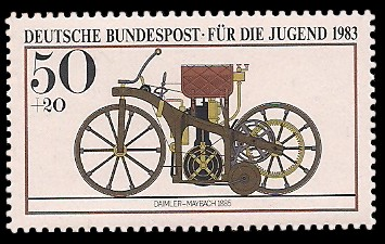 50 + 20 Pf Briefmarke: Für die Jugend, Motorräder