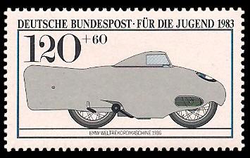 120 + 60 Pf Briefmarke: Für die Jugend, Motorräder