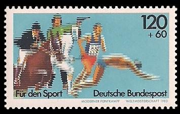120 + 60 Pf Briefmarke: Für den Sport