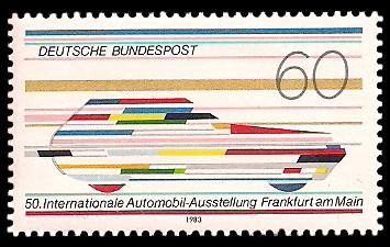 60 Pf Briefmarke: 50. Internationale Automobil-Ausstellung (IAA)