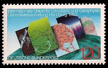 120 Pf Briefmarke: Internationale Union für Geodäsie und Geophysik
