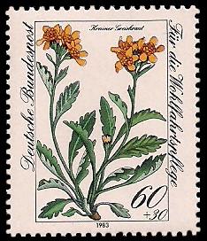 60 + 30 Pf Briefmarke: Für die Wohlfahrtspflege 1983, Alpenblumen