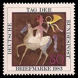 80 Pf Briefmarke: Tag der Briefmarke 1983