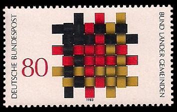80 Pf Briefmarke: Bund, Länder und Gemeinden