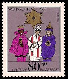 80 + 40 Pf Briefmarke: Weihnachtsmarke 1983