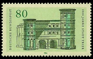80 Pf Briefmarke: 2000 Jahre Stadt Trier