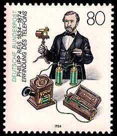 80 Pf Briefmarke: 150. Geburtstag Philipp Reis