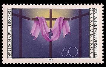 60 Pf Briefmarke: 350 Jahre Passionsspiele Oberammergau