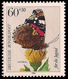60 + 30 Pf Briefmarke: Für die Jugend, Insekten