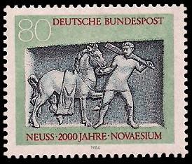 80 Pf Briefmarke: 2000 Jahre Neuss / Novaesium