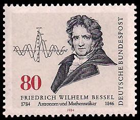 80 Pf Briefmarke: 200. Geburtstag Friedrich Wilhelm Bessel