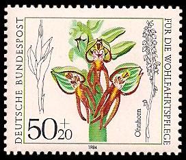 50 + 20 Pf Briefmarke: Für die Wohlfahrtspflege 1984, Orchideen