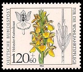 120 + 60 Pf Briefmarke: Für die Wohlfahrtspflege 1984, Orchideen