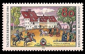 80 Pf Briefmarke: Tag der Briefmarke 1984