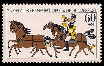 60 + 20 Pf Briefmarke: MOPHILA - Internationale Briefmarkenausstellung