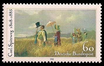 60 Pf Briefmarke: 100. Todestag Carl Spitzweg